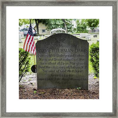 Harriet Tubman Gravestone Framed Print