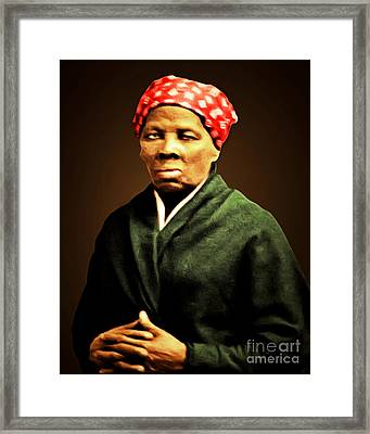 Harriet Tubman Underground Railroad 20160420 Framed Print by Wingsdomain Art and Photography