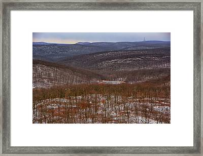 Harriman State Park From At Framed Print by Raymond Salani III