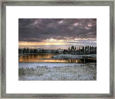 Harriman Winter Framed Print by Leland D Howard