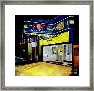 Harris Theater Pittsburgh Pennsylvania Framed Print by Christopher Shellhammer