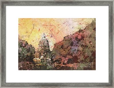 Harrisburg Capital Building Framed Print