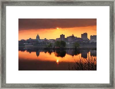 Harrisburg Skyline  Framed Print by Lori Deiter