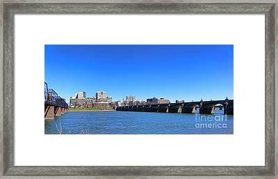 Harrisburg Skyline Framed Print by Olivier Le Queinec