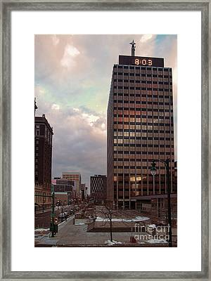 Harrison And Warren Streets Framed Print by Debra Millet