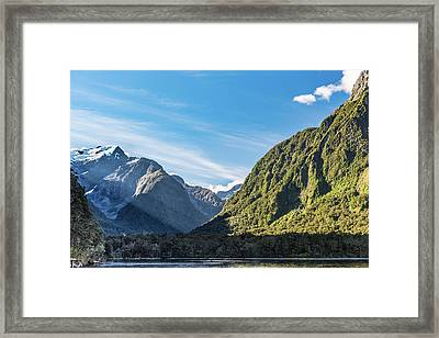 Framed Print featuring the photograph Harrison Cove Sunlight by Gary Eason