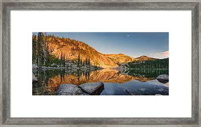 Harrison Lake Panoramic Framed Print