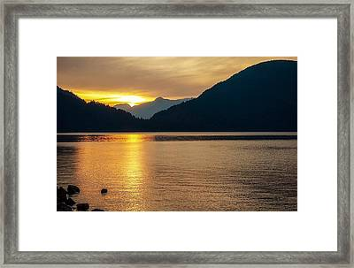 Harrison Lake, British Columbia Framed Print