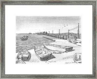 Harrisons Pier Ocean View Framed Print