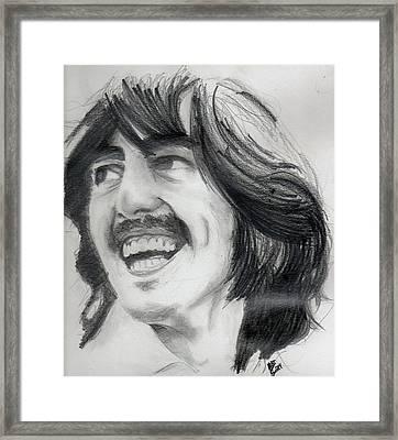 Harrison's Smile Framed Print by Matt Burke