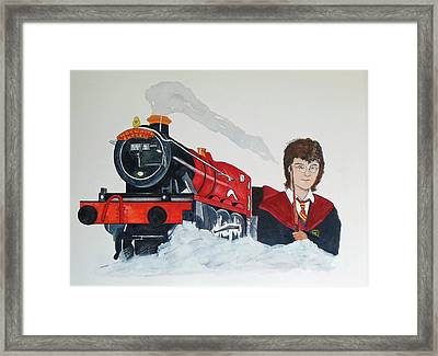 Harry Potter An The Hogwarts Express Framed Print by Kenneth A Mc Williams