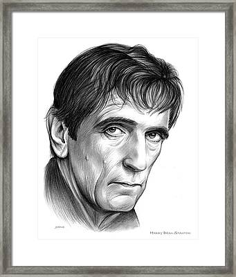 Harry Dean Stanton Framed Print by Greg Joens