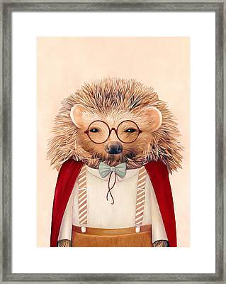 Harry Hedgehog Framed Print by Animal Crew