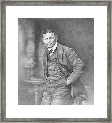 Harry Houdini Framed Print by Steven Paul Carlson