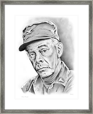 Harry Morgan Framed Print by Greg Joens