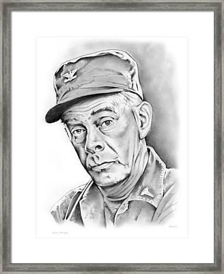 Harry Morgan Framed Print