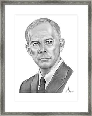 Harry Morgan Framed Print by Murphy Elliott
