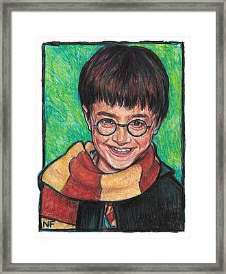 Harry Potter As Portrayed By Actor, Daniel Radcliffe Framed Print by Neil Feigeles