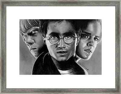Harry Potter Fanart Framed Print by Jasmina Susak
