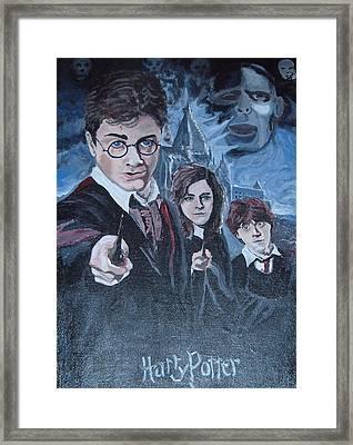 Harry Potter Framed Print by Julie Cranfill