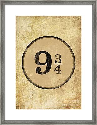 Harry Potter Sign Platform 9 3/4 Poster Framed Print
