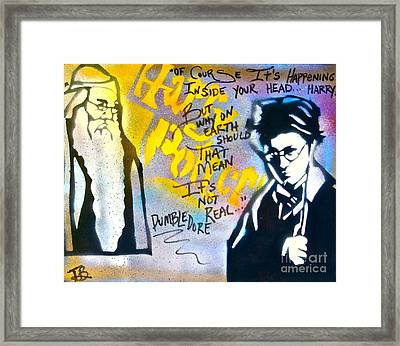 Harry Potter With Dumbledore Framed Print by Tony B Conscious