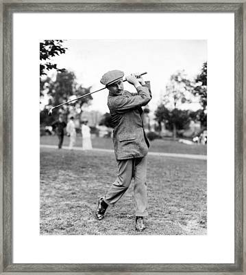 Framed Print featuring the photograph Harry Vardon - Golfer by International  Images