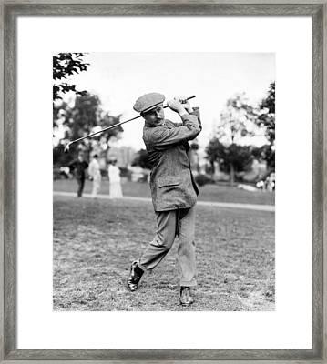 Harry Vardon - Golfer Framed Print by International  Images