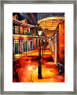 Harrys Corner New Orleans Framed Print