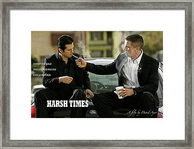 Harsh Times, Starring Christian Bale, Freddy Rodriguez And Eva Longoria Framed Print