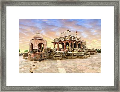 Harshat Mata Temple  Framed Print by Nila Newsom