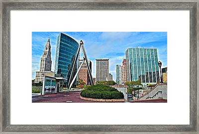 Hartford Daylight Panorama Framed Print by Frozen in Time Fine Art Photography