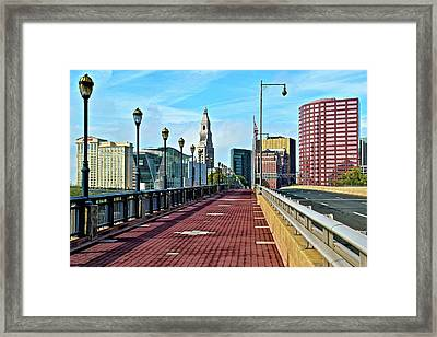 Hartford Welcomes You Framed Print by Frozen in Time Fine Art Photography