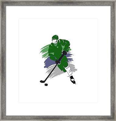 Hartford Whalers Player Shirt Framed Print