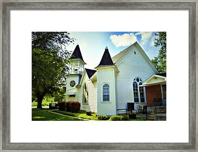 Hartsburg Baptist Church Framed Print
