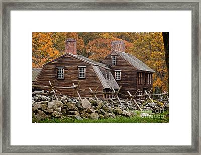 Hartwell Tarvern In Autumn Framed Print by Susan Cole Kelly