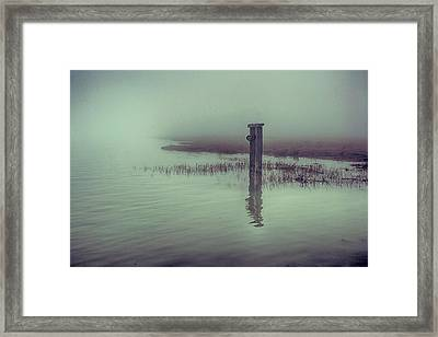 Harty Ferry In The Fog Framed Print