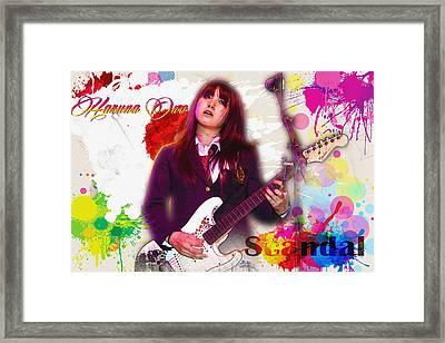Haruna Ono - Scandal Framed Print