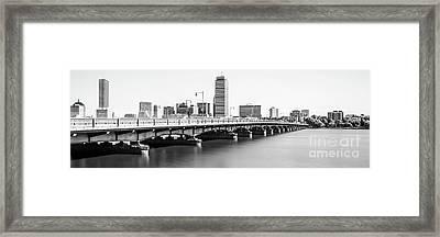 Harvard Bridge Boston Skyline Panorama Photo Framed Print by Paul Velgos