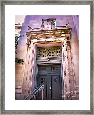 Harvard Building Entrance Framed Print by Claudia M Photography