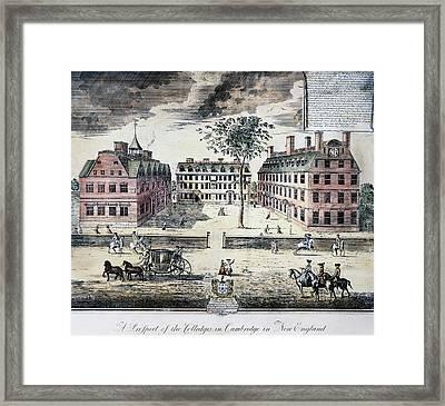 Harvard College, C1725 Framed Print by Granger