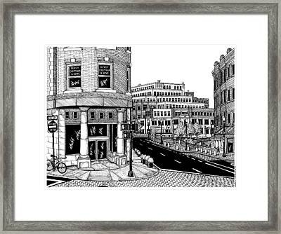 Harvard Square Framed Print by Conor Plunkett