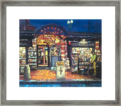 Harvard Square  Out Of Town News  Framed Print by Sean Moore