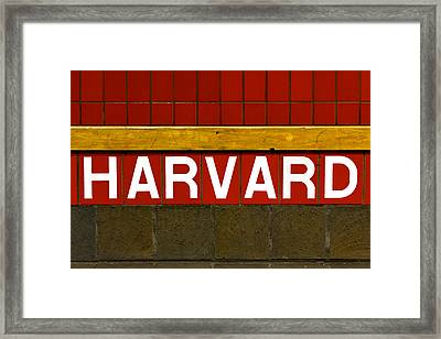 Harvard Square Station Framed Print by Jannis Werner