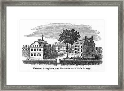 Harvard University, 1755 Framed Print by Granger