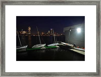 Harvard University Sailing Center Framed Print