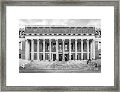 Widener Library At Harvard University Framed Print by University Icons