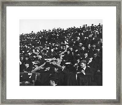 Harvard-yale Football Fans Framed Print by Underwood Archives