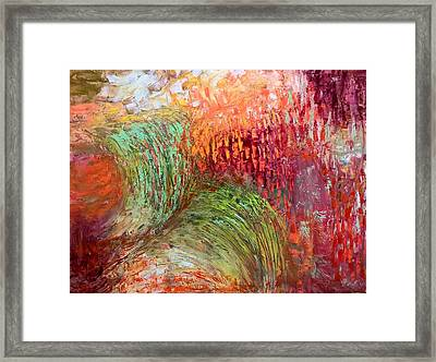 Framed Print featuring the painting Harvest Abstract by Nicolas Bouteneff