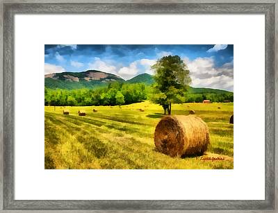 Harvest At Table Rock Framed Print